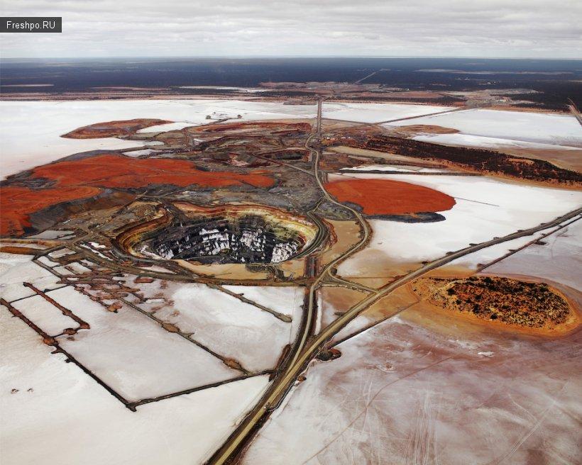 Серебрянные рудники Америки - фотографии с вертолета или как выглядят рудники?