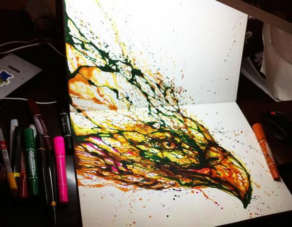 Необычные картины нарисованные без мазков кисти