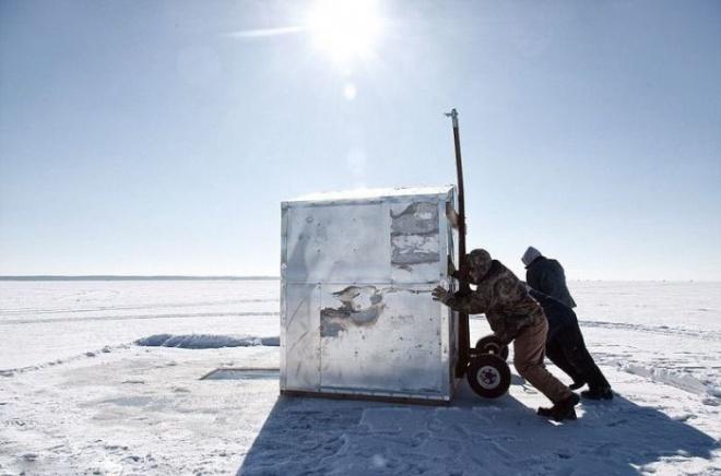 Зимняя рыбалка - интересный метод ловли на горпун.