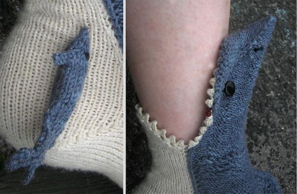 Носки: В рот акулы сунул ноги от Lisa Grossman (Лиза Гроссман)