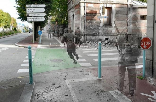 Фотографии исторических событий  - как это было тогда и сейчас