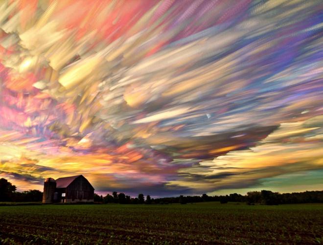 Невероятные пейзажи с размытыми облаками © Мэтт Моллоу