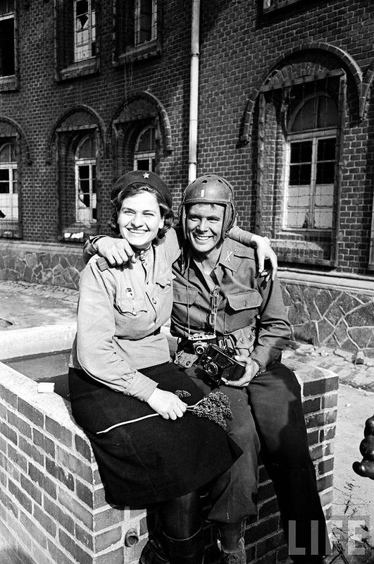 Город Торгау, апрель 1945 г